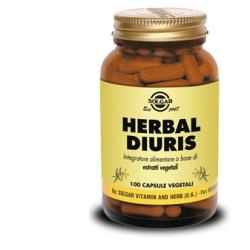 SOLGAR HERBAL DIURIS 100CPS VEG