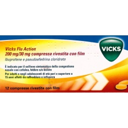VICKS FLU ACTION*12COMPRESSE 200+30MG